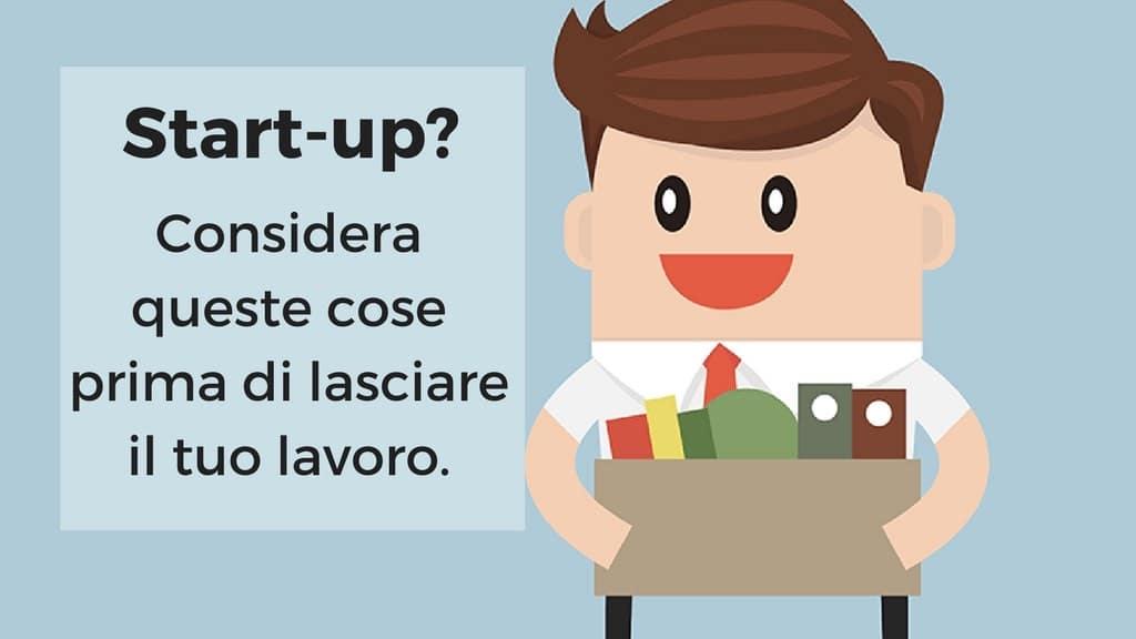 lasciare lavoro per avviare startup