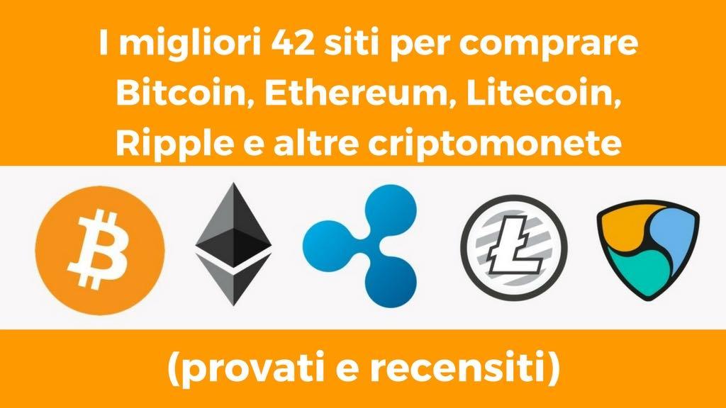 Migliori exchange Bitcoin, Ethereum, Litecoin, Ripple e altre criptomonete