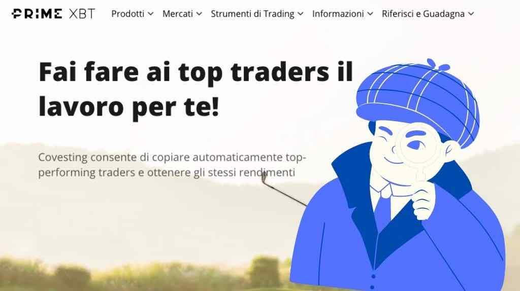 Fare social trading Bitcoin con PrimeXBT Covesting