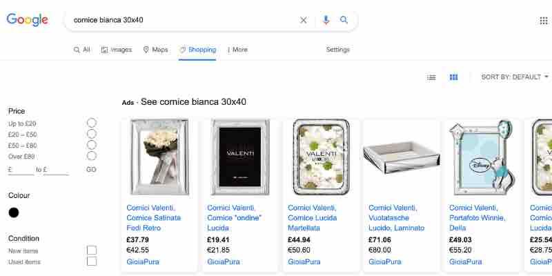 dove vendere online google shopping