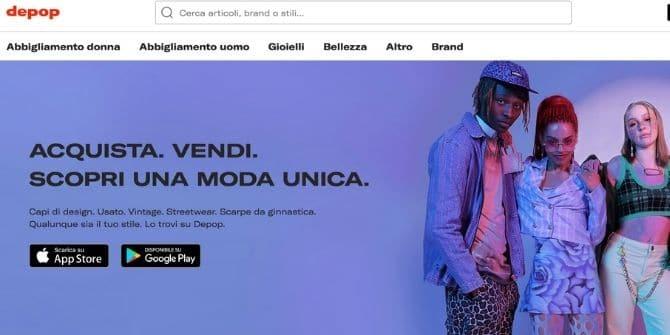 depop app sito dove vendere fashion