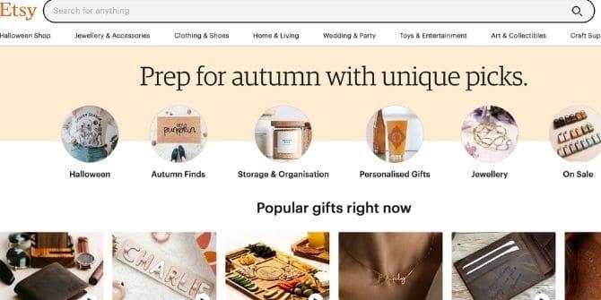 etsy sito dove vendere prodotti artigianali
