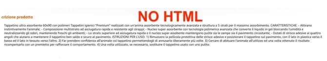scheda prodotto amazon no html